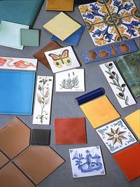 Range of hand made tiles Salernes en Provence