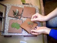 Leaf decor - Decors, Mural frescos, Hand painted decors in Provence