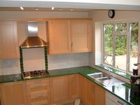 Installed worktop - Glazed lava, Lava rock for kitchens and bathrooms