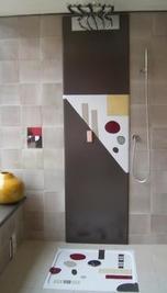 Douche en lave émaillée série Grafix - Salernes en Provence