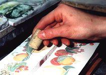 Fresque - Panneau décoratif, Fresque murale, Décor Fait Main en Provence