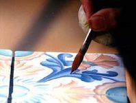Azuleros - Panneau décoratif, Fresque murale, Décor Fait Main en Provence